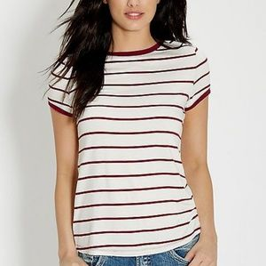 Maurices Striped Ringer Tee